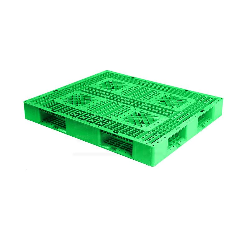 田字网格1311绿色塑料托盘