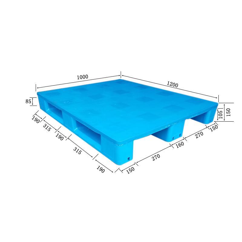 川字焊接1210蓝色平板托盘