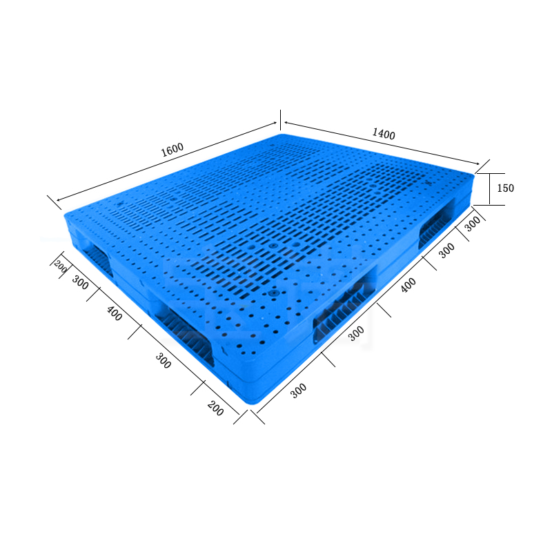 双面网格1614蓝色塑料托盘